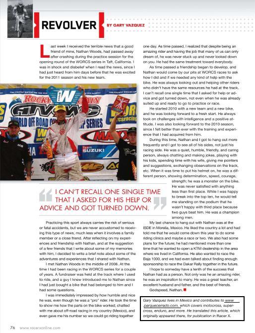 G. Vázquez y Parque Cerrado en RacerX