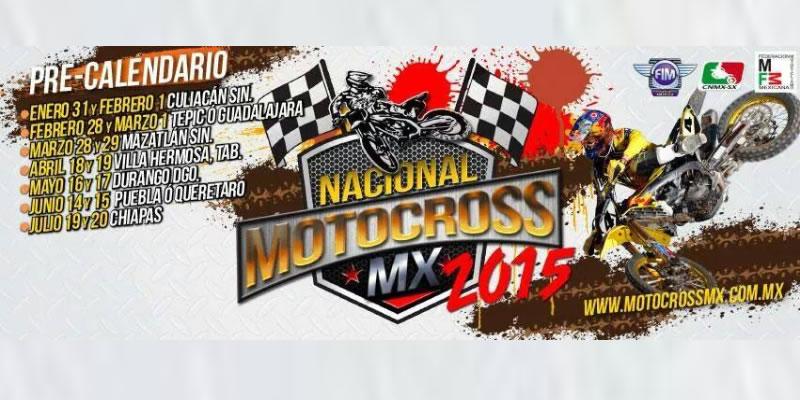Calendario Tentativo del Nacional de Motocross 2015; Fechas y Sedes