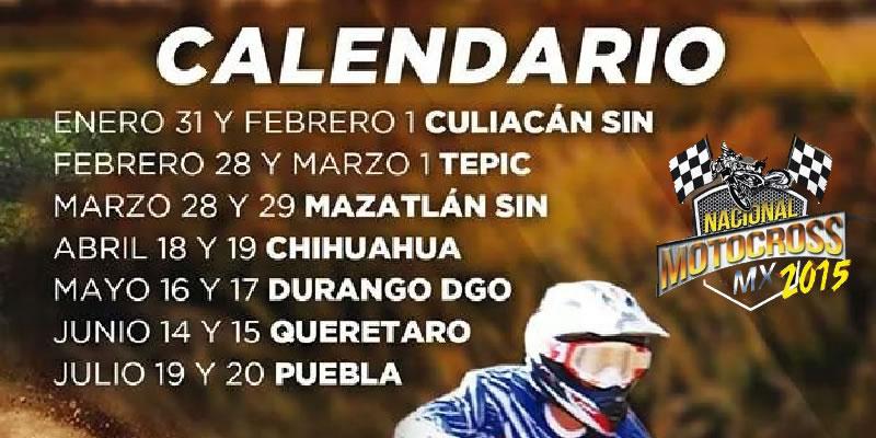 7 Fechas Para el Nacional de Motocross; La Final en Puebla