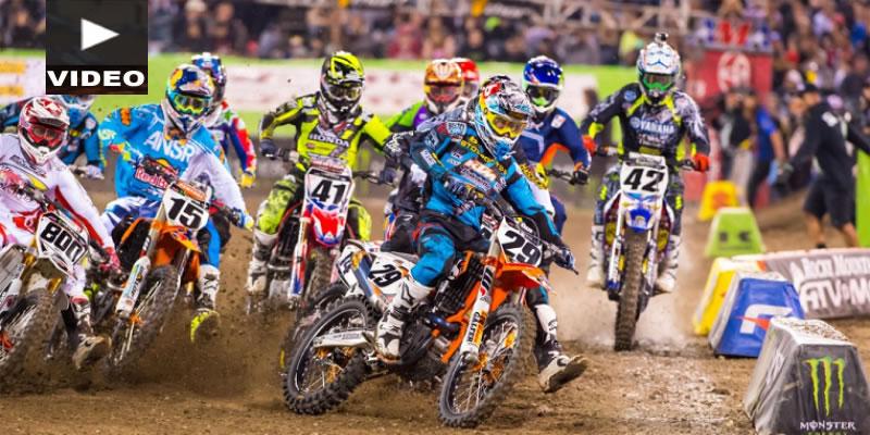 VIDEO: Inteso Round 3 del AMA Supercross; Anaheim II