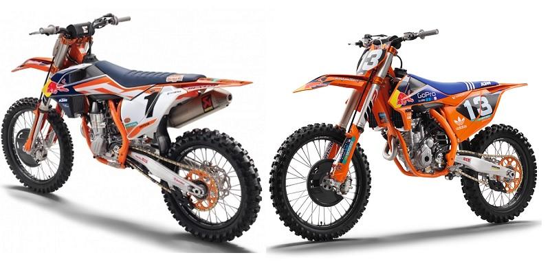 KTM 250 y 450 Factory Edition