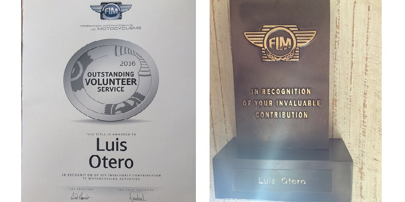 Reconoce la FIM a Luis Otero
