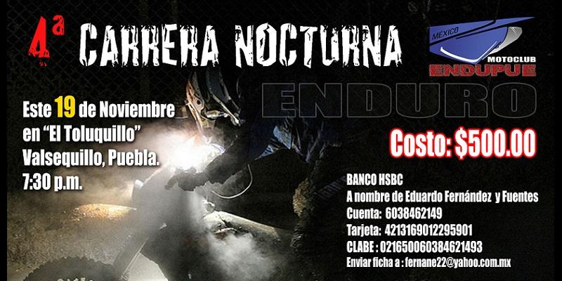 4ª Nocturna de Enduro, Puebla