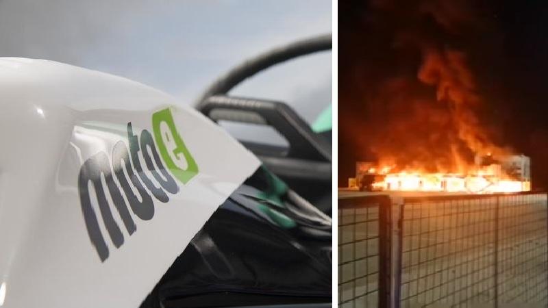 Se Incendian las MotosE en Jerez
