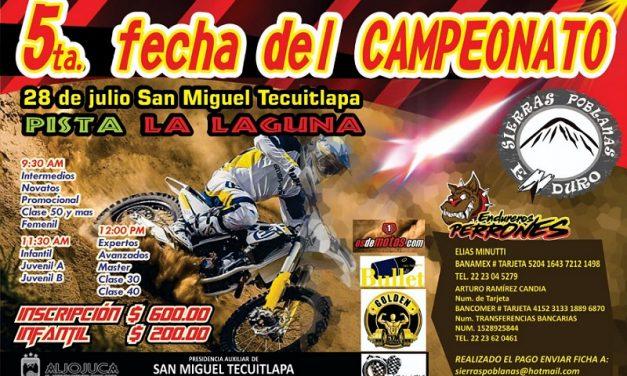 5ª Fecha Campeonato Sierras Poblanas