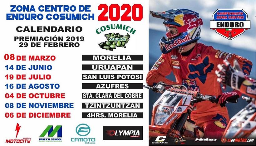 7 fechas, Zona Centro de Enduro