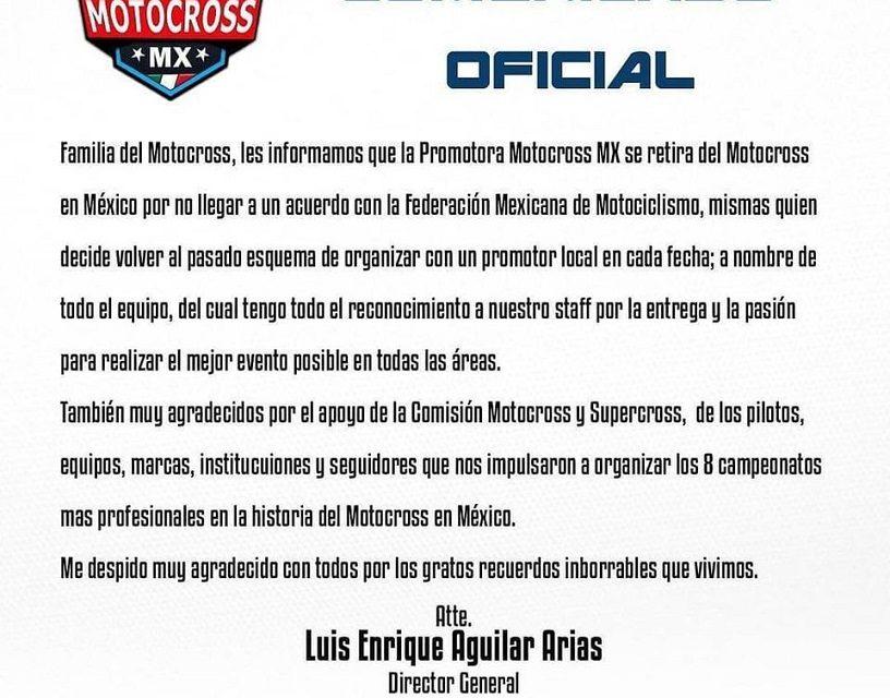 Sin acuerdo, Motocross.MX y FMM