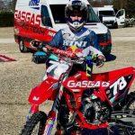 Daniel Fragoso en el Europeo de Motocross