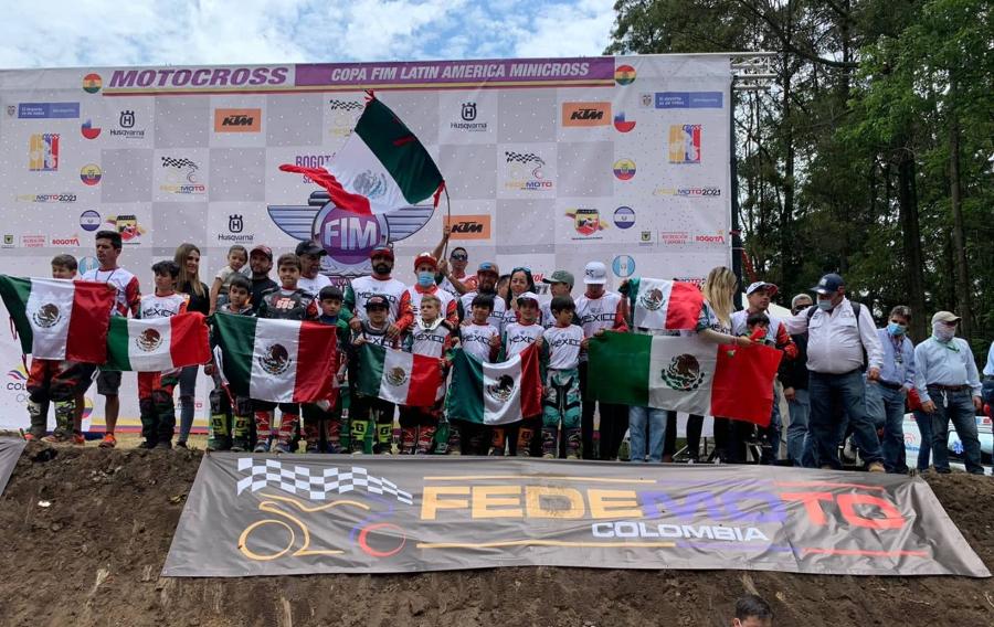 México sub campeón latino de MX 50cc